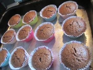 Coloquei em forminhas de cupcake pois assim fica mais facil para levar de lanche para qualquer lugar!