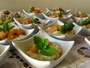Tapioca de abacaxi com coco
