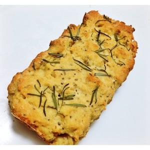 Pão sem glúten com farinha de grão de bico, chia e psyllium com alecrim
